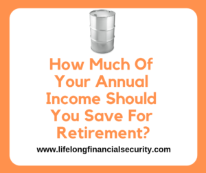 How Much Of Your Annual Income Should You Save For Retirement